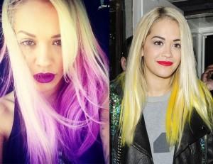 Rita Ora ombre hair extensions