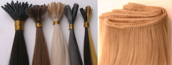 Pre-bonded and Weave hair extensions